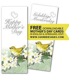 Gratis moedersdagkaartjie deur sueni designs. more