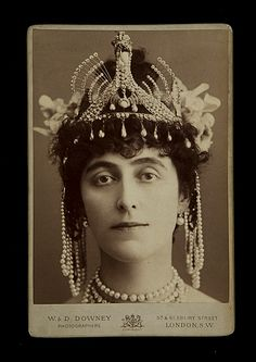Constance Gladys Ripon (née Herbert) (1859-1917), Marchioness of Ripon dressed as Cleopatra for the Devonshire House Ball (formerly the Countess de Grey).