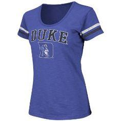 NCAA Duke Blue Devils Women's Endzone Scoop Neck Tee, Medium   Colosseum
