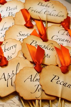 Vintage Inspired Buffet Labels - would be good for Thanksgiving buffett