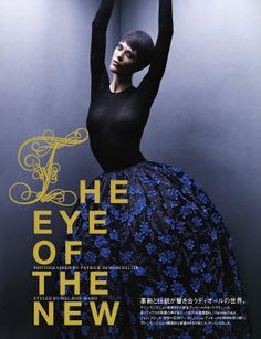 Aymeline ValadebyPatrick DemarchelierforVogue Japan, stylistMelanie Ward