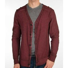 Buckle Black Jude Cardigan - Red Large ($22) ❤ liked on Polyvore featuring men's fashion, men's clothing, men's sweaters, red, mens cotton cardigan sweaters, mens red cardigan sweater, mens cotton sweaters, mens cardigan sweaters and mens red sweater