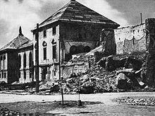 Częściowo zburzony i wypalony budynek #PMA w 1946 #Warszawa #arsenał #muzeum #archeologia