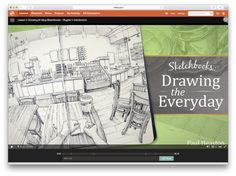 Review: Sketchbooks: Drawing the Everyday by Paul Heaston (Craftsy course) | Parka Blogs