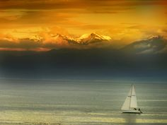 Vancouver Island Sunset :: Victoria BC:: Olympic Mountains