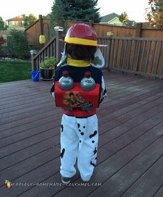Cute DIY Paw Patrol Marshall Costume - 1                                                                                                                                                                                 More