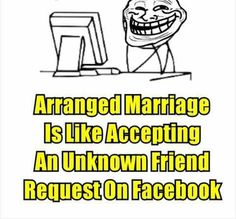 Arranged marriage is likek bhai pagli Image Chat, Marriage, Lol, Thoughts, Memes, Awesome, Amazing, Funny, Truths