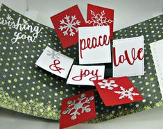Karen's Kreative Kards: Video - Pop Up Holiday Cards with Karen Burniston Photo Collage Dies Christmas Wishes