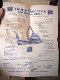 Menucator instructions