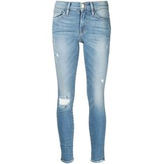 Frame Denim skinny jeans ($340) ❤ liked on Polyvore