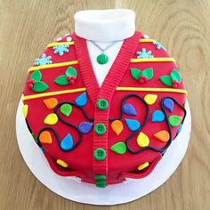 Novel way of decorating your Christmas cake! Christmas Themed Cake, Christmas Cake Designs, Christmas Cake Decorations, Christmas Cupcakes, Christmas Sweets, Holiday Cakes, Christmas Cooking, Xmas Cakes, Xmas Food