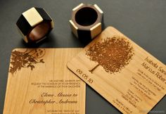 I met Cristina from Cards by Cristina in Spring at the Weddingbells luncheon, and saw her invitations soon after. Wedding Vendors, Wedding Blog, Fall Wedding, Diy Wedding, Wedding Ideas, Unique Weddings, Real Weddings, Wood Invitation, Real Wood