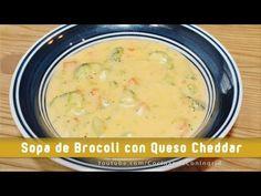 Brocoli cheddar soup - sopa de brocoli y queso cheddar, mi version de la deliciosa sopa que venden en panera. muy facil de hacer.  sopa de brocoli, crema de bocoli y queso, recet facil, receta sencilla, easy recipes.