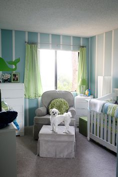 Get that dog out of my baby's nursery! But I do like the colors
