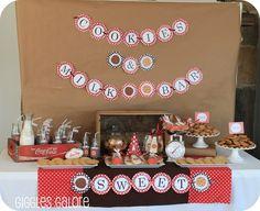 Cookies & milk dessert table
