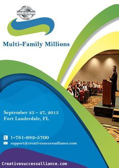 Multi-Family Millions Event 2015  September 25 – 27, 2015 – Fort Lauderdale, FL  Call : 800-559-6025   You will leave this #event a #multifamily #investing profit expert!