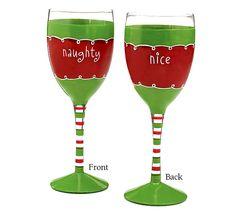 $9.50 Santa's List Naughty & Nice Wine Glass
