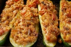 Low Calorie 5-2 Diet Fast Day Turkey Stuffed Courgettes