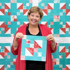 The Jitterbug Quilt will have you dancing around your sewing room! Learn how to make one for your home with Jenny!