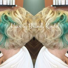 Brightened up Hester's blonde & refreshed her teal!  One of the sweetest ladies I know ! ❤️❤️❤️