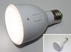 This is a rechargeable LED light bulb that can stay illuminated for 3 hours without electricity.