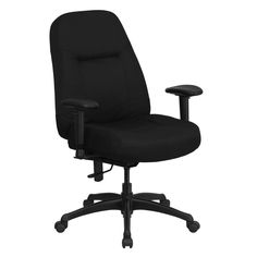 Hercules Series High-Back Big and Tall Fabric Executive Chair with Height Adjustable Arms and Extra Wide Seat