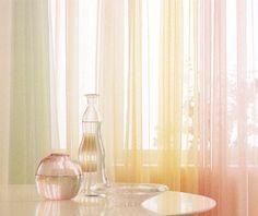 可愛いミラーレース カーテン☆3サイズ同価格☆パステルカラー5色から選べる♪5,000円以上お買い上げで送料無料!