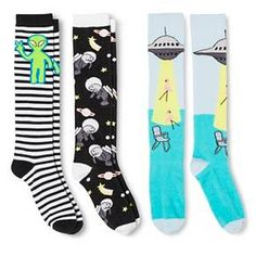 3cd47d7a4 Women s Knee-High Socks Outer Space 3-Pack Black 4-10 - Xhilaration