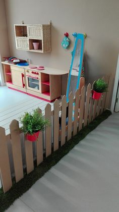 How cool would this be to make out of cardboard. Dramatic Play. Fence