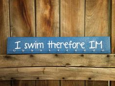 I Swim Therefore IM Swimming Race Medal by spillthebeansetc