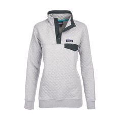 Women's Cotton Quilt Snap-T Pullover in Drifter Grey