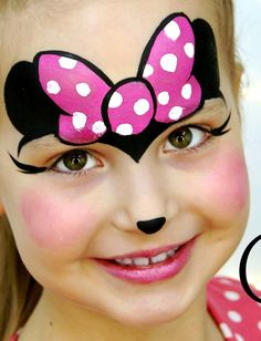 Pintura para rosto - Hobbies paining body for kids and adult Minnie Mouse Face Painting, Disney Face Painting, Girl Face Painting, Painting For Kids, Pour Painting, Animal Face Paintings, Animal Faces, Face Painting Tutorials, Face Painting Designs