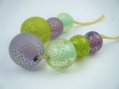 Moogin beads Lampwork / glass bead set - SRA Homemade Cosmetics, Glass Etching, Lampwork Beads, Glass Beads, Shapes, Homemade Beauty Products