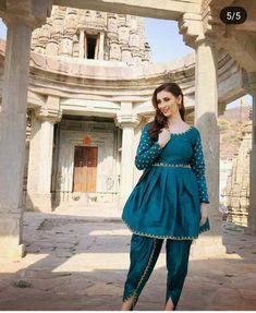 Ready Made Salwar Kameez Dhoti Bollywood Indian Pakistani Party Wearing Suit Vf Salwar Kameez, Pakistani, Bollywood, Fancy, Indian, Silk, How To Wear, Vintage, Tops