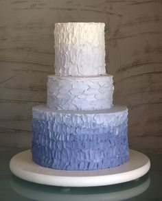 Ombre. [Whipped Bakeshop] Want to do something like this for Morrisons first birthday cake.