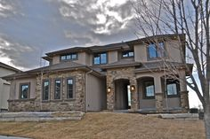 Front Exterior- All stone & stucco.