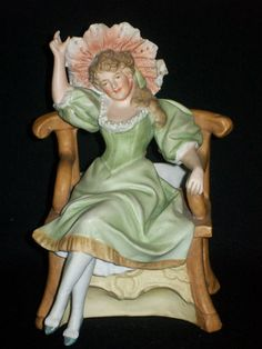 Gorgeous Antique German Bisque Porcelain Dresden Lady Planter Figurine Figure | eBay Dresden China, Ribbon Work, China Patterns, Collectible Figurines, Porcelain Ceramics, Ballerinas, Old And New, China Cabinet, Bone China