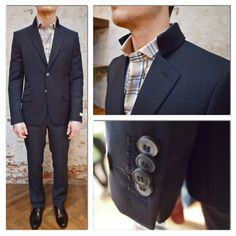 Circle of Gentlemen Shaftesbury Blazer Check High Collar: $750 Circle of Gentlemen Check High Collar Shirt: $245