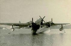 Rolf Bakken collection Two Sunderlands and the BV 138 at Sola See, summer of 45.