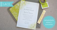 Lace Wedding Invitations by Delphine