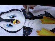 MPC 150427 DESIREE ARTHUSO PINTURA EM TECIDO PINGUIM PT2 - YouTube