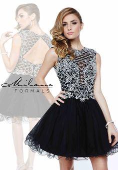 Milano Formals Beaded Tulle Dress E1893
