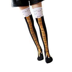Womens Chicken Legs Knee-High Novelty Girl Socks Funny Gi...