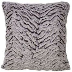 This stylish cushion cover features a stunning faux fur look, rendered into a sumptuous polyester material for that soft feeling, and including a small border effect. Combine with the matching throw to coordinate your accessories with this wonderful design.