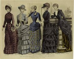 Les Modes Parisiennes Peterson's Magazine - October 1883 At Home