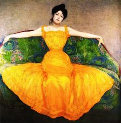 'Lady In A Yellow Dress' by Max Kurzweil