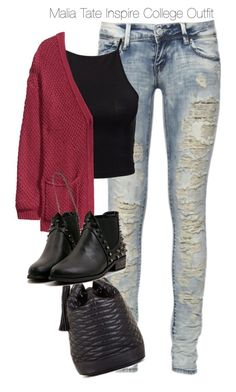 """""""Teen Wolf - Malia Tate Inspire College Outfit"""" by staystronng ❤ liked on Polyvore featuring Estradeur, H&M, BCBGMAXAZRIA, college, tw and maliatate"""