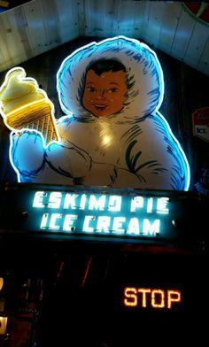 Original Eskimo Pie Ice Cream Neon Sign