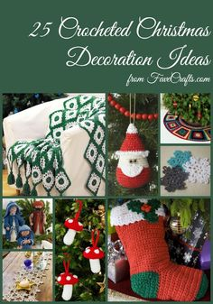 25 Crocheted Christmas Decoration Ideas | FaveCrafts.com