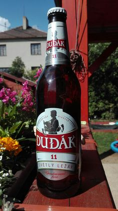 Strakonický Dudák, pivo světlý ležák. Czech beer.